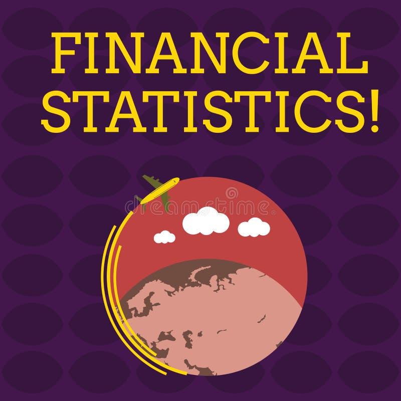 De Financi?le Statistieken van de handschrifttekst Concept die Uitvoerige Reeks van Voorraad en Stroomgegevens van een bedrijfvli vector illustratie