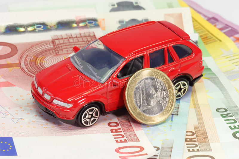 De financiering van de auto stock afbeelding