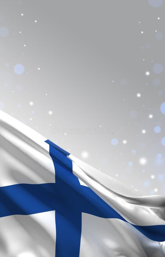 De finse vlag, 3D de kleurenachtergrond van Finland, geeft terug vector illustratie