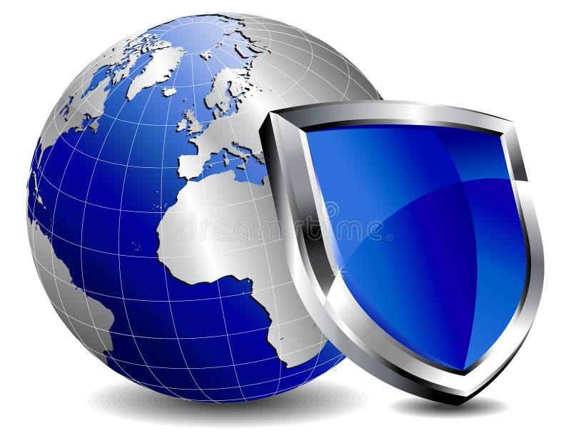 De firewall van het Schild van de bescherming stock illustratie