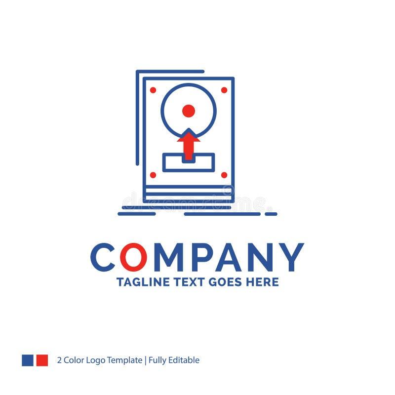 De Firmanaam Logo Design For installeert, drijft, hdd, sparen, uploadt stock illustratie