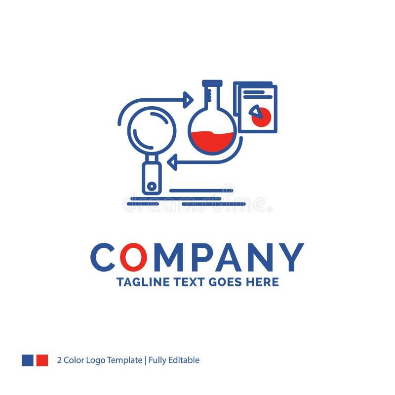De Firmanaam zich Logo Design For Analysis, zaken, ontwikkelt, develo stock illustratie