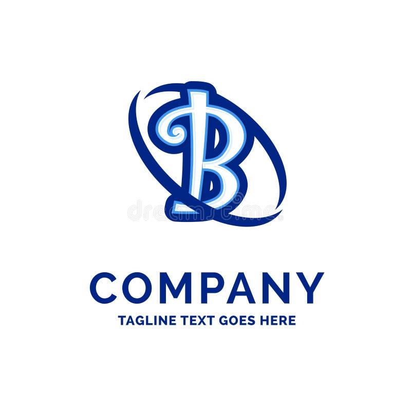 De Firmanaamontwerp Blauw Logo Design van B Company royalty-vrije illustratie