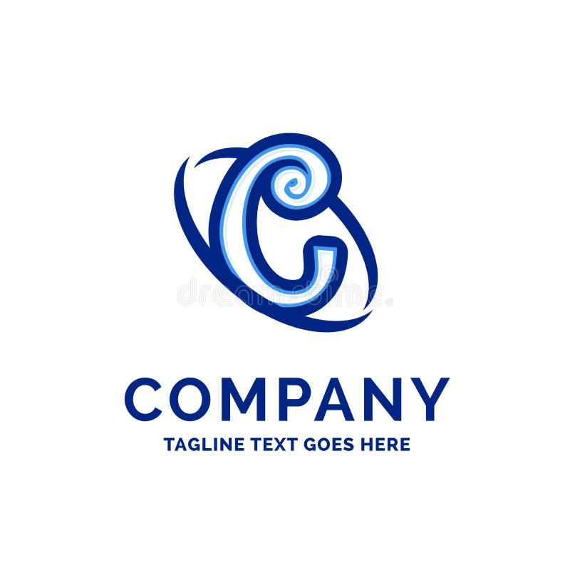 De Firmanaamontwerp Blauw Logo Design van C Company royalty-vrije illustratie