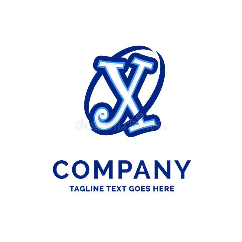 De Firmanaamontwerp Blauw Logo Design van X Company vector illustratie