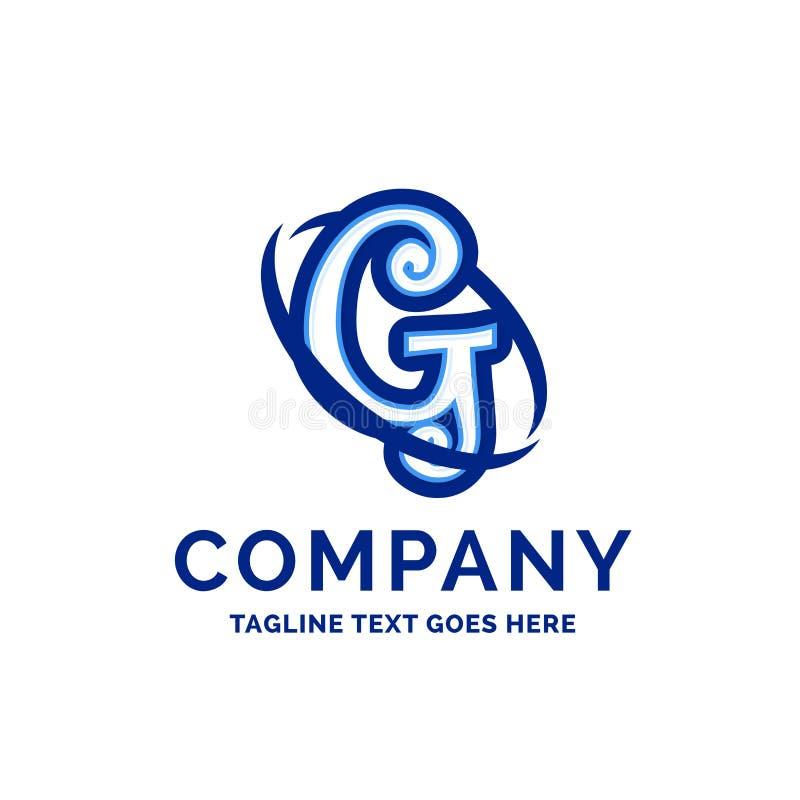 De Firmanaamontwerp Blauw Logo Design van G Company royalty-vrije illustratie
