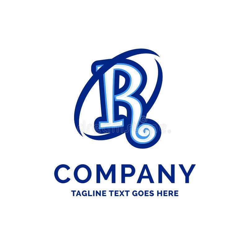 De Firmanaamontwerp Blauw Logo Design van R Company vector illustratie