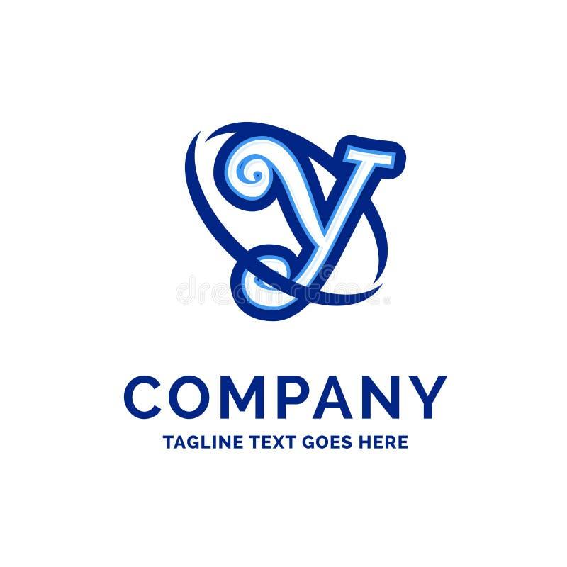 De Firmanaamontwerp Blauw Logo Design van Y Company vector illustratie