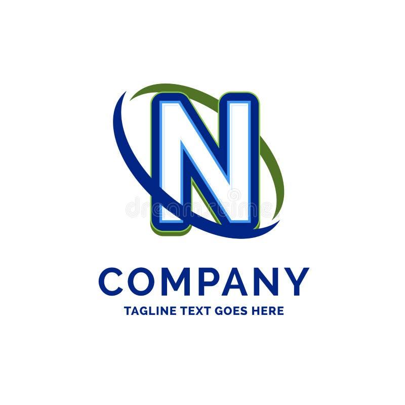 De Firmanaamontwerp van N Company Embleemmalplaatje De Plaats van het merknaammalplaatje royalty-vrije illustratie