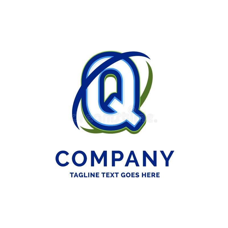 De Firmanaamontwerp van Q Company Embleemmalplaatje De Plaats van het merknaammalplaatje stock illustratie