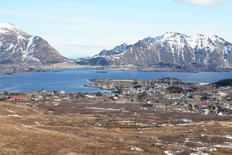De fjord en Gravdal van Busknes royalty-vrije stock foto