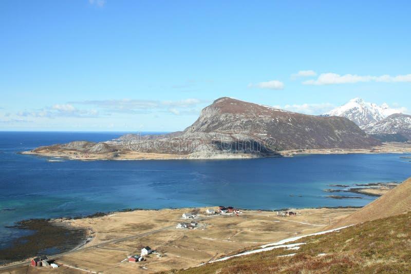 De fjord en Sund van Napp stock foto's