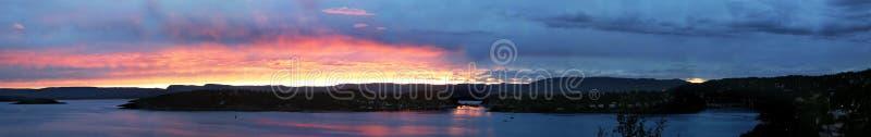 De Fjord Panarama van Oslo (23.86 parlementslid) royalty-vrije stock fotografie