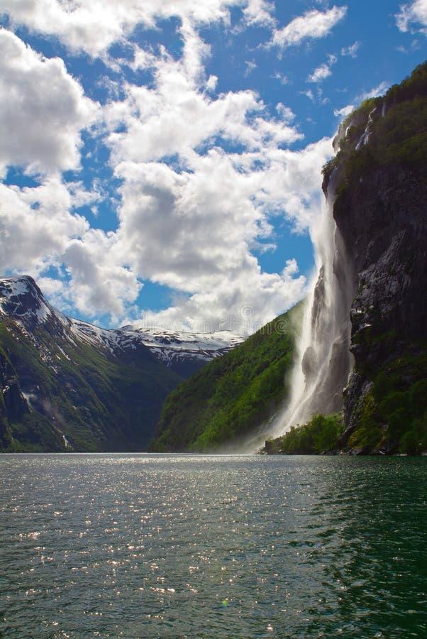 De fjord van Noorwegen stock afbeelding