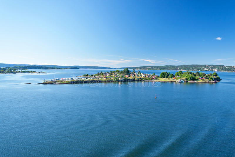 De Fjord van Oslo royalty-vrije stock foto