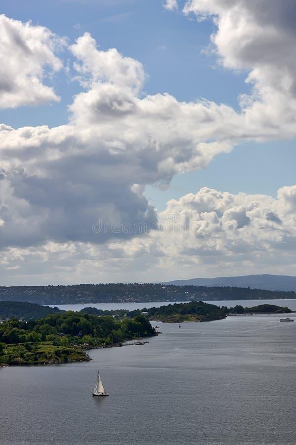 De Fjord van Oslo stock afbeeldingen