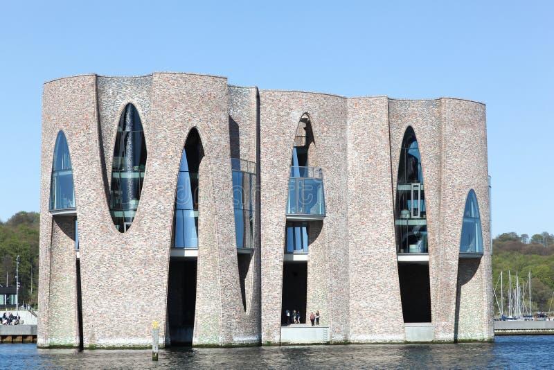 De Fjordenhusbouw in Vejle, Denemarken stock foto