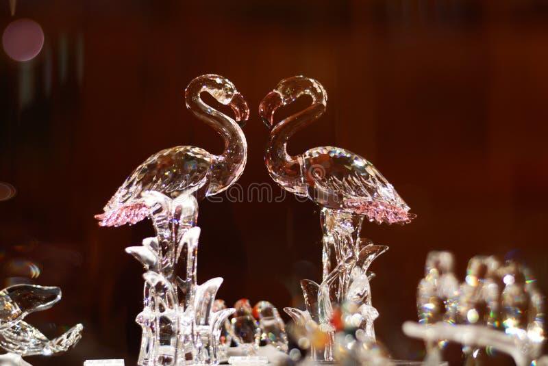 De Flamingo van het kristal royalty-vrije stock afbeelding