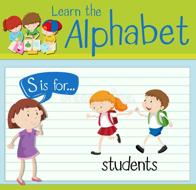 De Flashcardbrief S is voor studenten vector illustratie