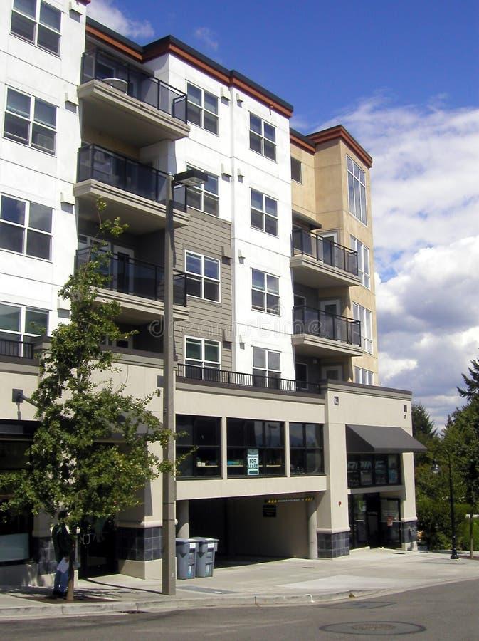 De Flatgebouwen met koopflats van de binnenstad
