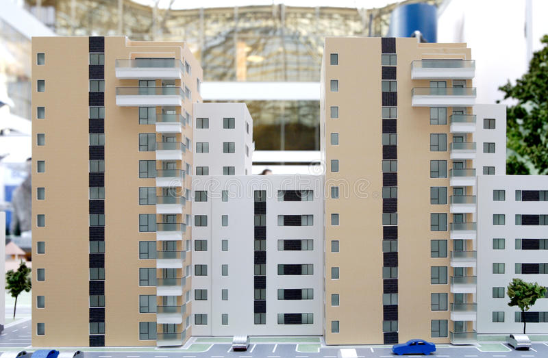 De flatgebouwen van onroerende goederen - miniaturen royalty-vrije stock foto