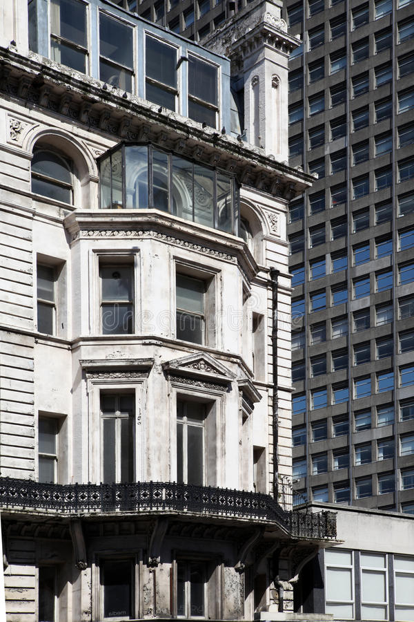 De flats Londen van de Bureaus van de architectuur stock afbeelding
