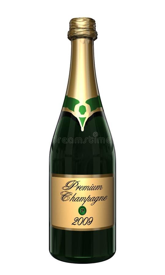 De Fles van Champagne stock illustratie