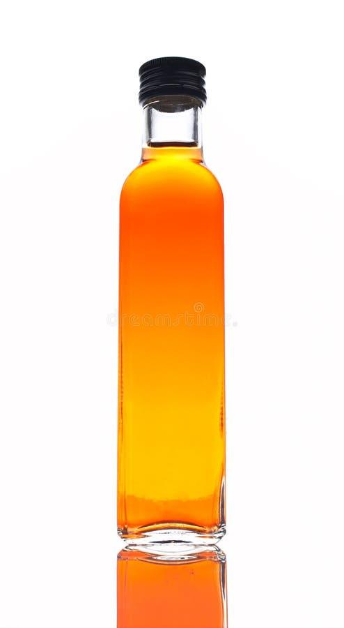 De fles van de azijn royalty-vrije stock foto's