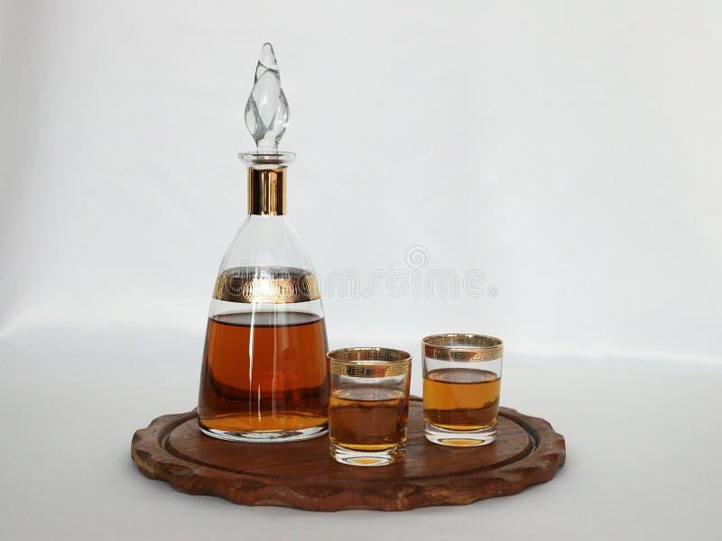De Fles Van De Brandewijn Van Het Goud En Van Het Leer Gratis Openbaar Domein Cc0 Beeld