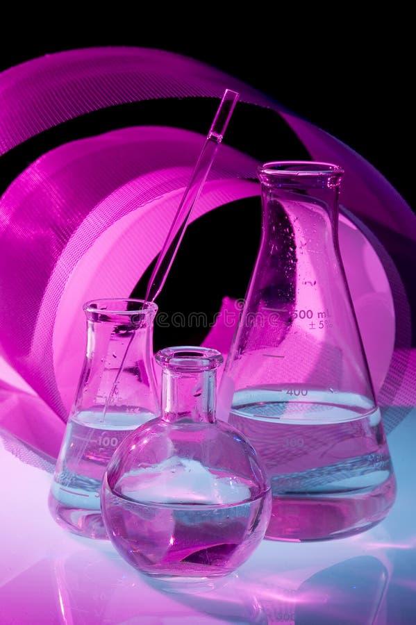 De fles van de chemie royalty-vrije stock foto