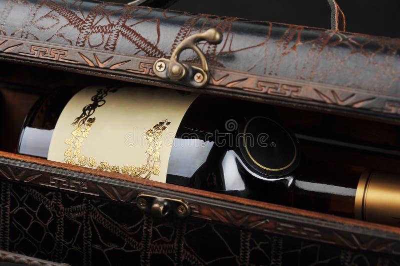 De fles van de cognac royalty-vrije stock foto