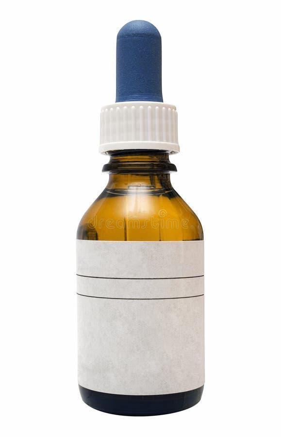 De Fles van de geneeskunde met Weg royalty-vrije stock afbeeldingen
