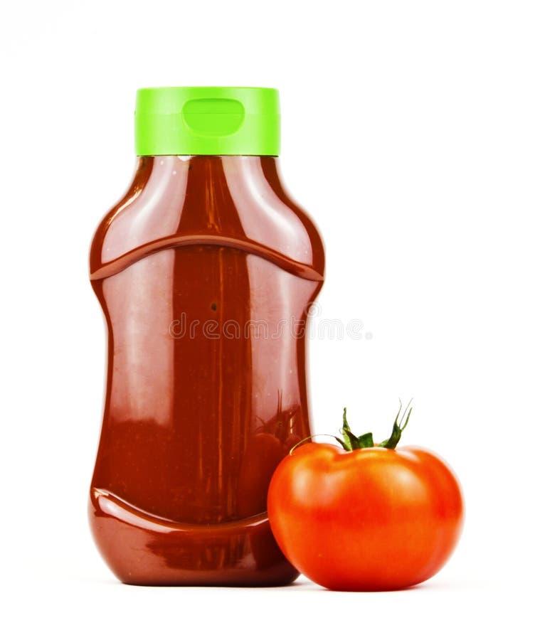 De fles van de ketchup   royalty-vrije stock afbeelding