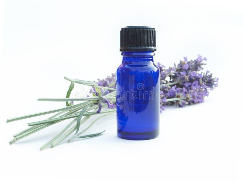 De Fles van de lavendel stock afbeeldingen