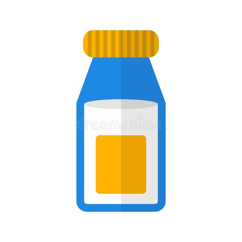 De fles van de melk stock illustratie