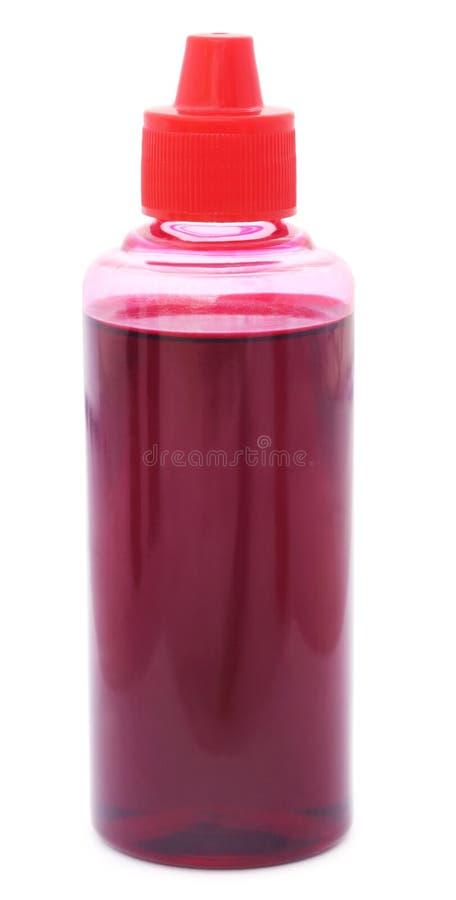 De fles van de printerinkt royalty-vrije stock foto's