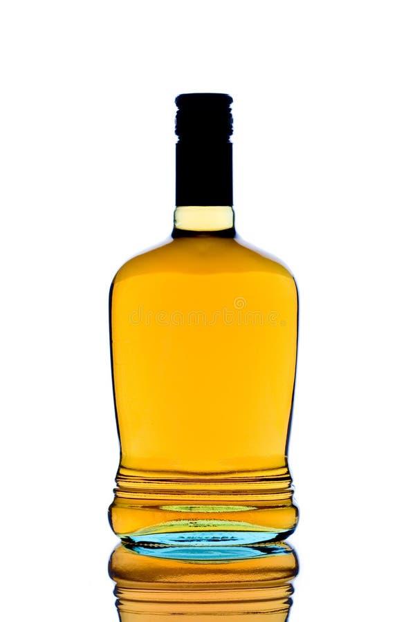 De fles van de whisky royalty-vrije stock foto