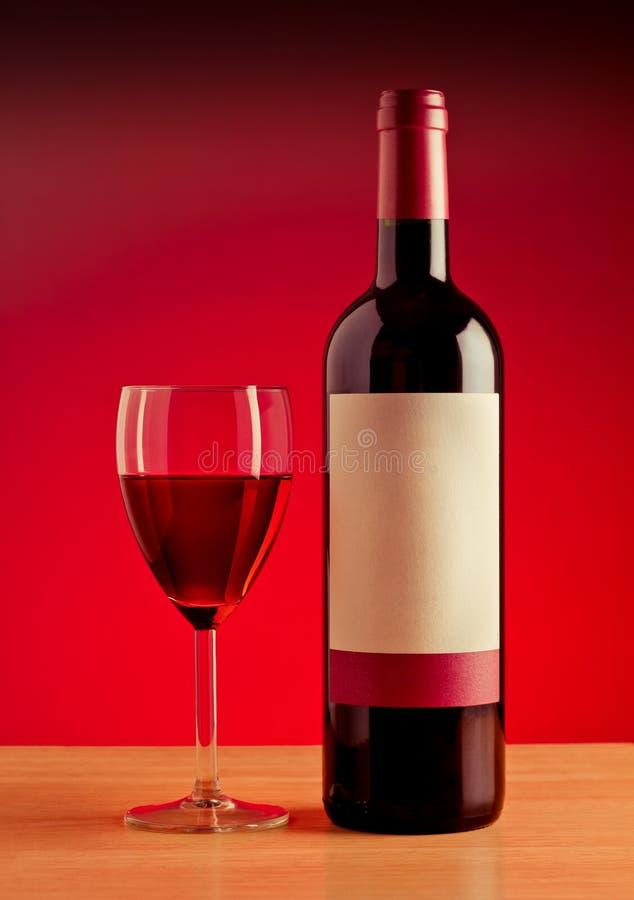 De Fles van de wijn stock foto