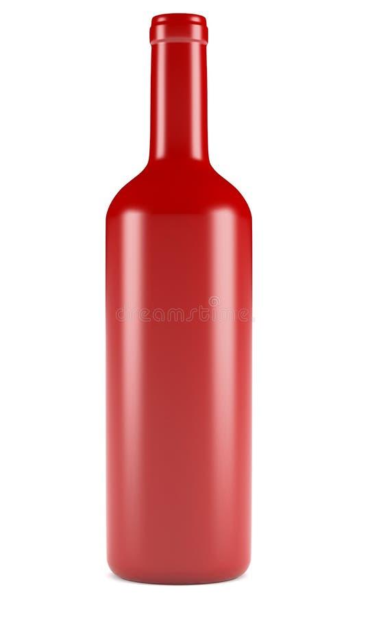 De fles van de wijn stock illustratie
