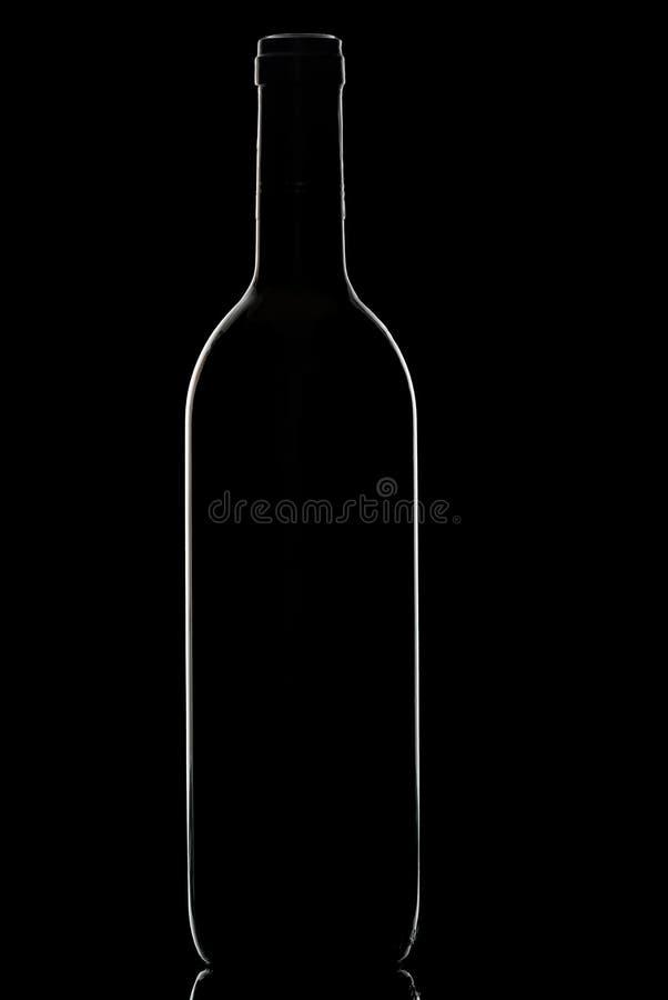 De fles van de wijn. royalty-vrije stock fotografie