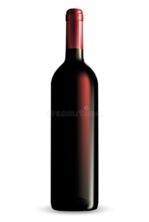 De fles van de wijn