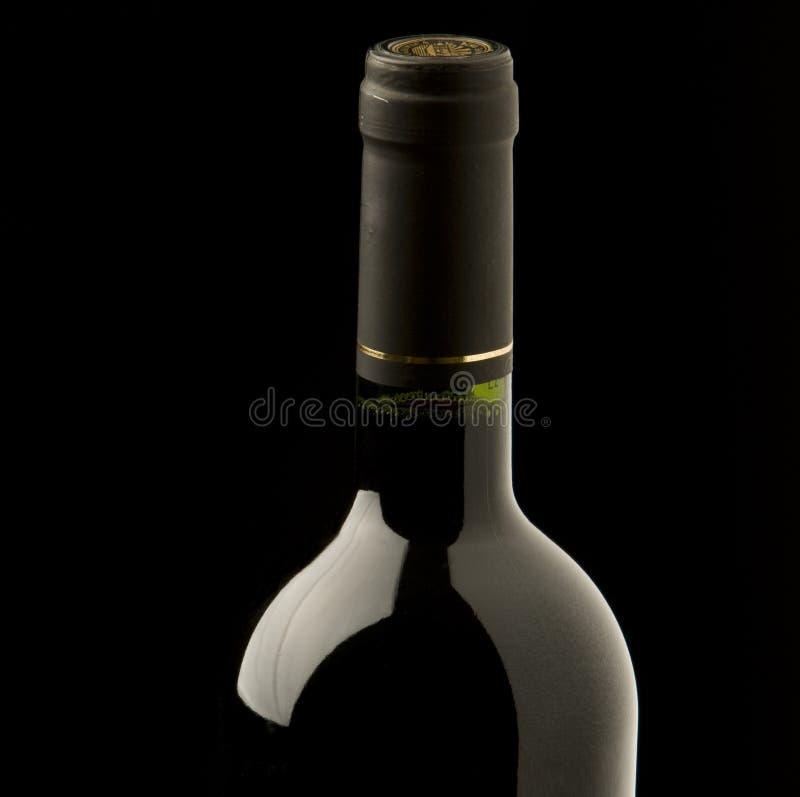 De fles van de wijn stock fotografie
