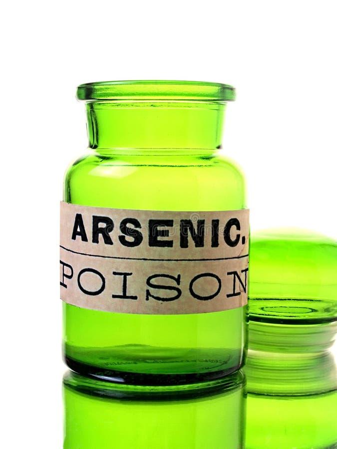De Fles van het arsenicum stock afbeeldingen