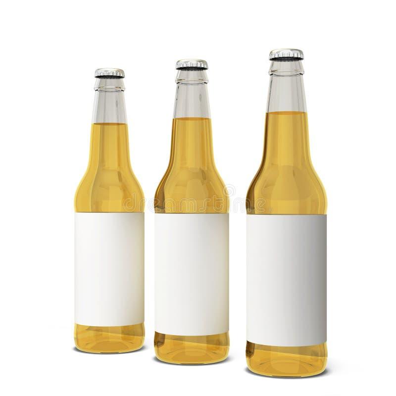 De fles van het bier stock illustratie