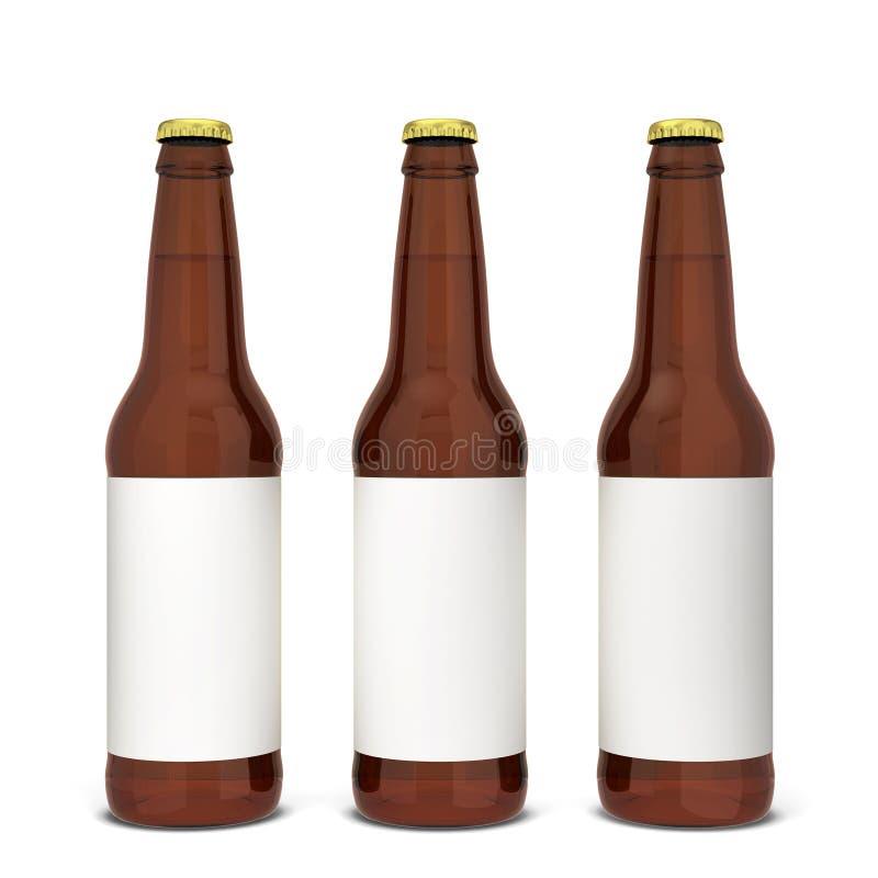 De fles van het bier vector illustratie
