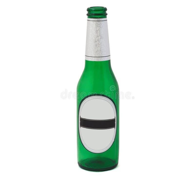 De fles van het bier met het knippen van weg. stock afbeelding
