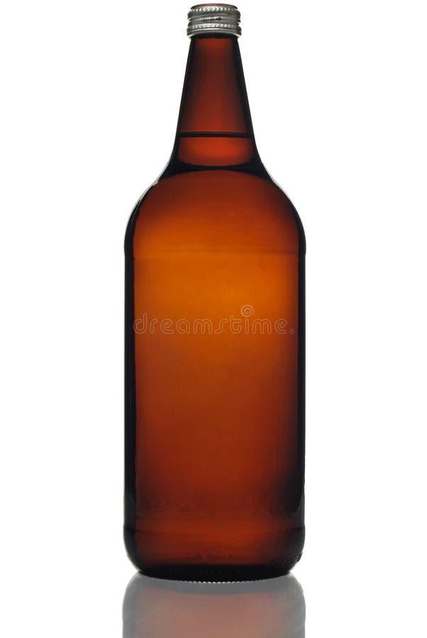 De Fles van het Bier van veertig Ons stock afbeeldingen