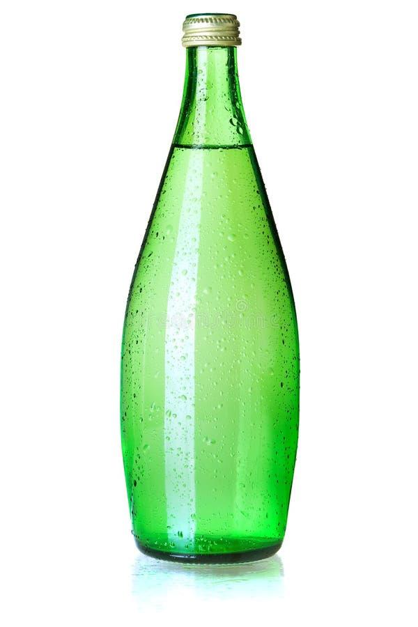De fles van het glas sodawater royalty-vrije stock afbeelding