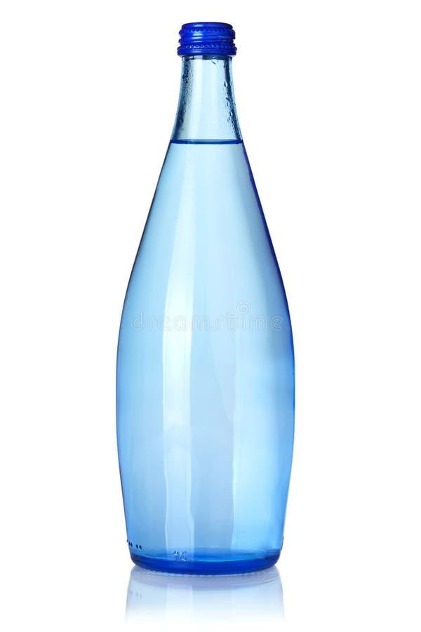 De fles van het glas sodawater royalty-vrije stock foto's