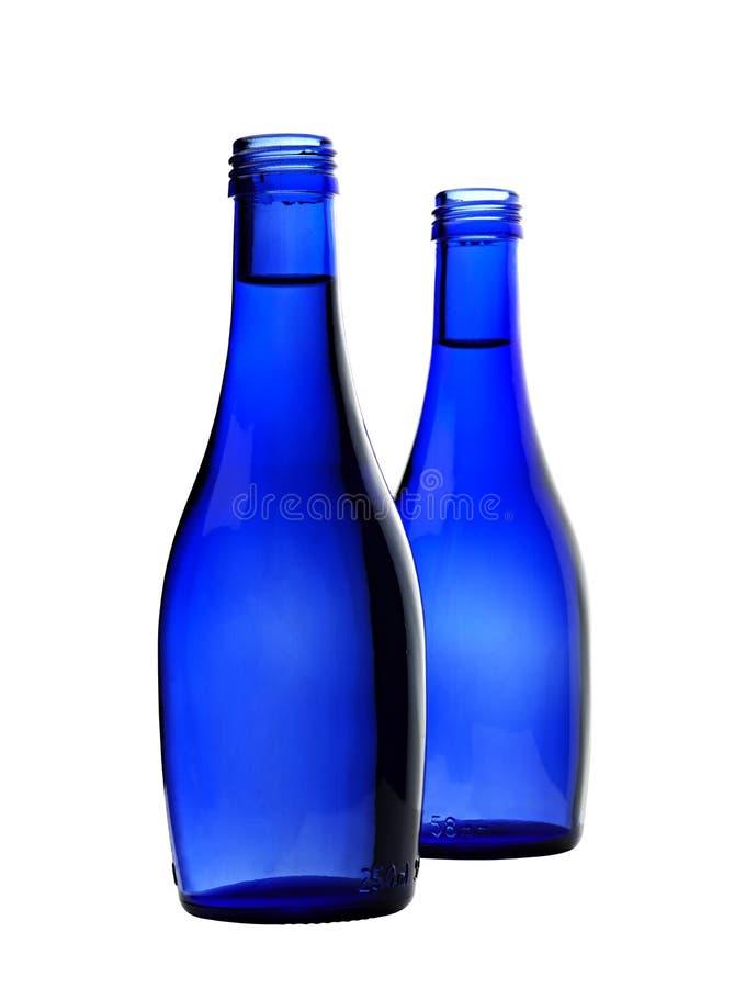 De fles van het glas sodawater stock fotografie